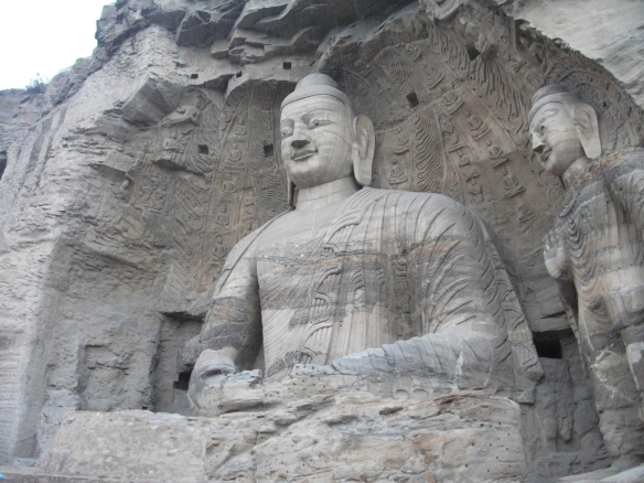 The Yungang (云岗) Caves near Datong, Shanxi province contain these huge Buddhist carvings into cliffs.
