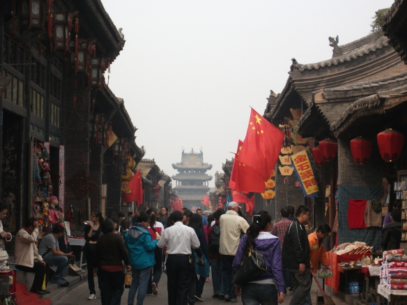 The historical streets of Pingyao, Shanxi province, have been largely spruced up for the tourist industry, but  still offer a rare chance to stroll down traffic-free alleyways which bear any resemblance to how they would be in traditional China.