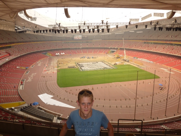 Inside the Bird's Nest / Olympic Stadium, Beijing.