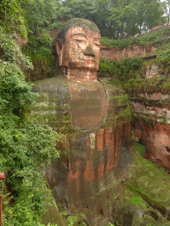 The Great Buddha at Leshan (乐山), Sichuan province is the biggest Buddha carving in the world.
