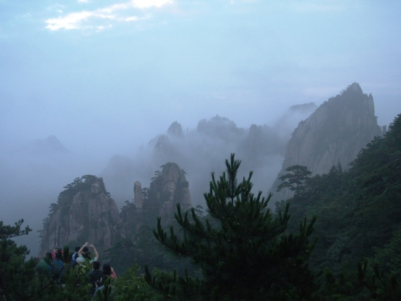 The atmospheric sunrise from Huangshan (黄山), Anhui province.
