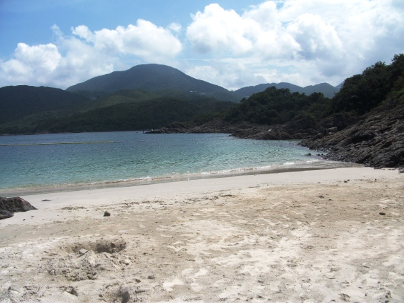 The beach at Sai Wan, New Territories, Hong Kong.